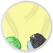 Chickens Three Round Beach Towel