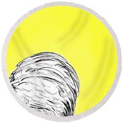 Chickens Two Round Beach Towel