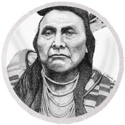 Chief Joseph Round Beach Towel