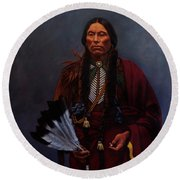 Chief Quanah Parker Round Beach Towel