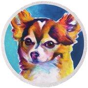 Chihuahua - Honey Round Beach Towel