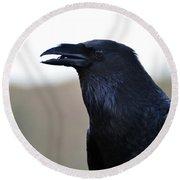 Chihuahua Raven Profile Round Beach Towel
