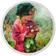 Child Of Eden Round Beach Towel
