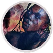 Child Of Wonder Round Beach Towel
