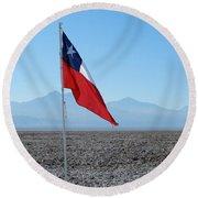 Chilean Flag Round Beach Towel