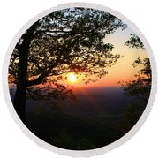Round Beach Towel featuring the photograph Chilhowee Sunset by Kathryn Meyer