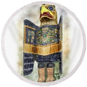 Chilkat Eagle Round Beach Towel