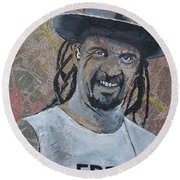 Round Beach Towel featuring the painting Chillin At Pisgah by Stuart Engel