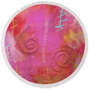 Chilling Round Beach Towel