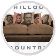Chillout Country Round Beach Towel