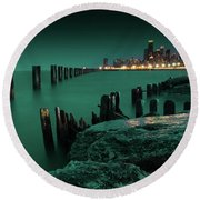 Chilly Chicago 2 Round Beach Towel