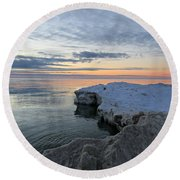 Chilly View Round Beach Towel