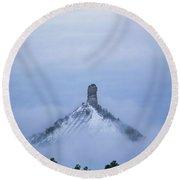 Chimney Rock Rising Round Beach Towel by Jason Coward