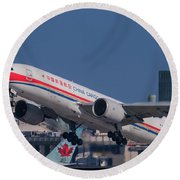 China Cargo Airlines Boeing 777f Round Beach Towel