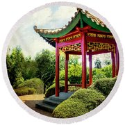 China In New Zealand Round Beach Towel