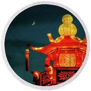 China Night Round Beach Towel by Michael Nowotny