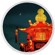 China Nights Round Beach Towel