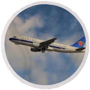 China Southern Airlines Airbus A320-214 Round Beach Towel