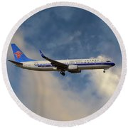 China Southern Airlines Boeing 737-81q Round Beach Towel