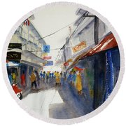 Chinatown, Bangkok Round Beach Towel