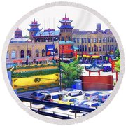 Round Beach Towel featuring the photograph Chinatown Chicago 1 by Marianne Dow