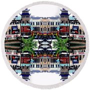 Round Beach Towel featuring the photograph Chinatown Chicago 2 by Marianne Dow