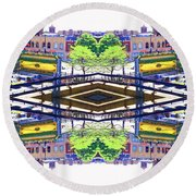 Round Beach Towel featuring the photograph Chinatown Chicago 3 by Marianne Dow