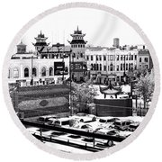 Round Beach Towel featuring the photograph Chinatown Chicago 4 by Marianne Dow