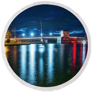 Chincoteague Causeway Round Beach Towel