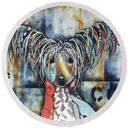 Chinese Crested Round Beach Towel