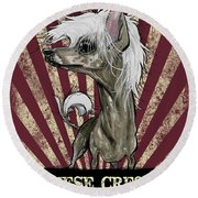 Chinese Crested Revolution Round Beach Towel