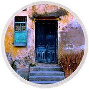 Chinese Facade Of Hoi An In Vietnam Round Beach Towel