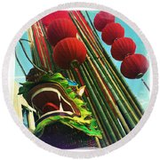 Chinese New Year Round Beach Towel by Nina Prommer
