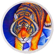 Chinese Zodiac - Year Of The Tiger Round Beach Towel