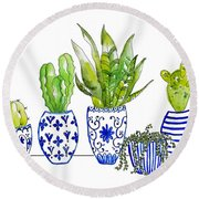 Chinoiserie Collected Round Beach Towel