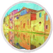 Chioggia, Italy Round Beach Towel by Chris Armytage