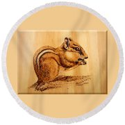 Chippies Lunch Round Beach Towel by Ron Haist