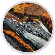 Chobezzo Abstract Series 1 Round Beach Towel by Lilia D