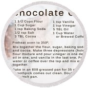 Chocolate Cake Recipe Round Beach Towel