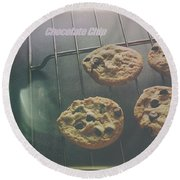 Chocolate Chip Round Beach Towel
