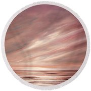 Chocolate Shake Sunset Round Beach Towel