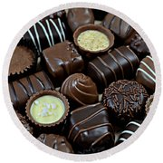 Chocolates Round Beach Towel
