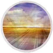 Choices Round Beach Towel by Holly Kempe
