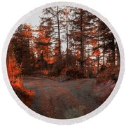 Choose The Road Less Travelled Round Beach Towel