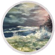 Choppy Seas 1 Round Beach Towel