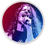 Chris Cornell 326 Round Beach Towel