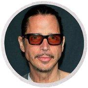 Chris Cornell Round Beach Towel
