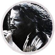 Chris Cornell Round Beach Towel by Tom Carlton