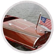 Chris Craft Barrel Back Round Beach Towel