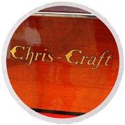 Chris Craft Logo Round Beach Towel